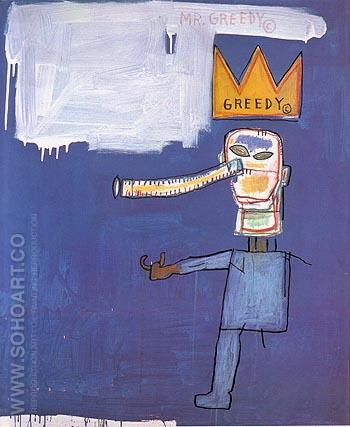 Mr Greedy 1986 - Jean-Michel-Basquiat reproduction oil painting