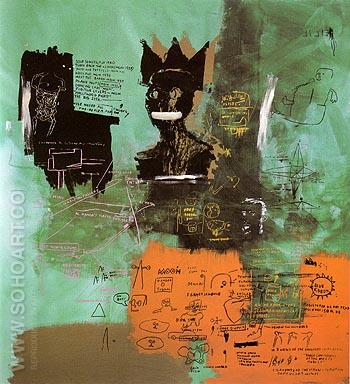 Untitled 1984 - Jean-Michel-Basquiat reproduction oil painting