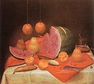 Still Life with Watermelon 1974 - Fernando Botero