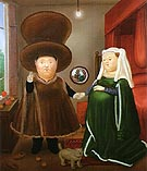 The Arnolfini Marriage after van Eyck 1978 - Fernando Botero