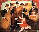 Ball in Colombia 1980 - Fernando Botero reproduction oil painting