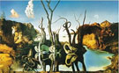 Salvador Dali Reflections of Elephants 1937
