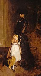 Cecilia Beaux Mrsalexander Sedgwick and Daughter Christina 1902