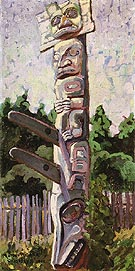 Skidegate 1912 - Emily Carr reproduction oil painting