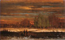 George Inness Winter Evening Medfield 1860