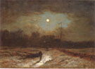 George Inness Christmas Eve Winter Moonlight 1866