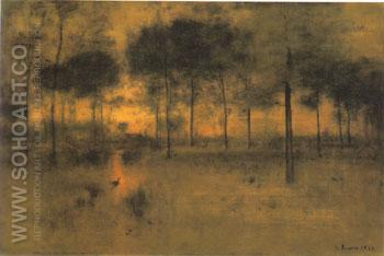 The Home of the Heron 1893 - George Inness reproduction oil painting