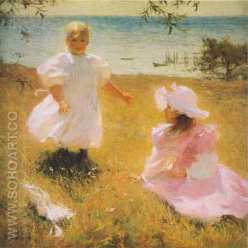 The Sisters 1899 - Frank Weston Benson reproduction oil painting