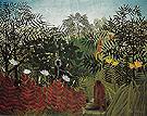 Henri Rousseau Tropical Forest with Monkeys 1910