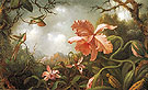 The Hummingbirds and Two Varieties of Orchids c1870 - Martin Johnson Heade
