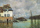 Alfred Sisley Reproduction oil painting of Flood at Port Marly 1876  2