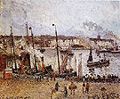 Port of Dieppe Rainy Morning 1902 - Camille Pissarro reproduction oil painting
