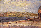Alfred Sisley Reproduction oil painting of The Banks of the River at Saint Mammes 1884