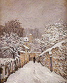 Alfred Sisley Reproduction oil painting of Snow at Louveciennes 1875