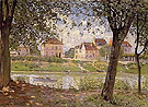 Alfred Sisley Reproduction oil painting of Villeneuve la Garenne on the Seine 1872
