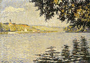 View of the Seine at Herblay opus 203 1889 - Paul Signac reproduction oil painting