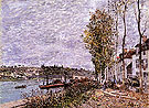 Alfred Sisley Reproduction oil painting of Overcast Day at Saint Mammes c1880