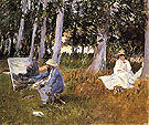 John Singer Sargent Claude Monet Painting by the Edge of a Wood 1887