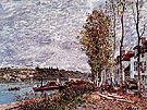 Alfred Sisley Reproduction oil painting of Saint Mammes Gray Weather c1880