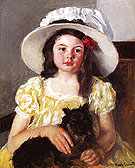 Francoise with a Black Dog c1880 - Mary Cassatt