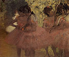Dancers in Red Skirts c1884 - Edgar Degas