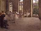 The Rehearsal c1873 - Edgar Degas