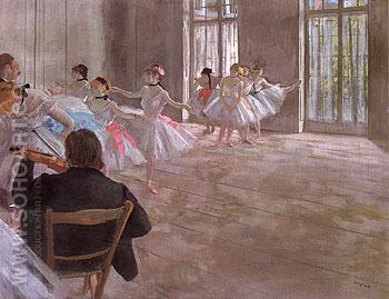The Dance School c1874 - Edgar Degas reproduction oil painting