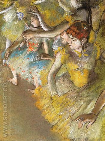 Ballet Dancers on the Stage 1883 - Edgar Degas reproduction oil painting
