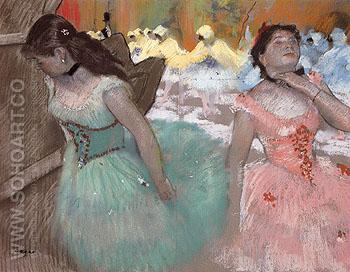 The Entrance of the  Masked Dancers c1884 - Edgar Degas reproduction oil painting