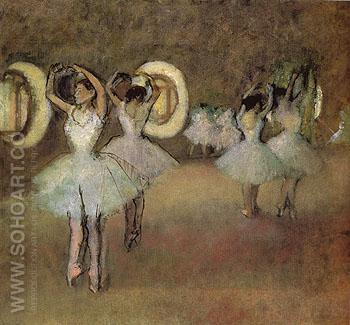 Dance Rehearsal in the Foyer of the Opera  1895 - Edgar Degas reproduction oil painting