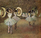 Dance Rehearsal in the Foyer of the Opera  1895 - Edgar Degas
