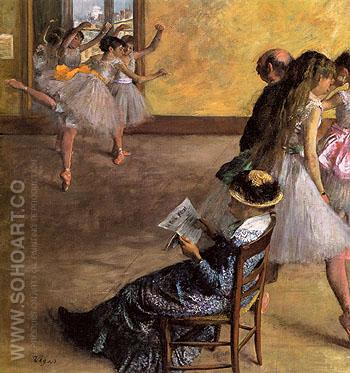 The Ballet Class c1878 - Edgar Degas reproduction oil painting