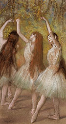 Edgar Degas Green Dancers c1885