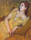 Edgar Degas Seated Woman in a Yellow Dress c1890