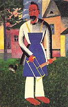 At the Dacha 1928 - Kasimir Malevich