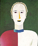 Portrait of a Woman c1928 - Kasimir Malevich