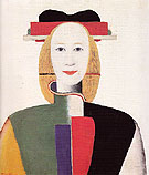 Girl with Ornamental Comb c1932 - Kasimir Malevich