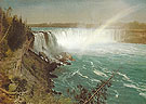 Niagara c1869 - Albert Bierstadt reproduction oil painting