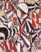 Fernand Leger Woman Sewing 1914