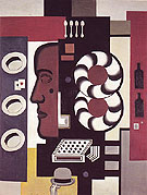 Fernand Leger Composition with Hand and Hats 1927