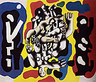Fernand Leger Divers on a yellow Background 1941