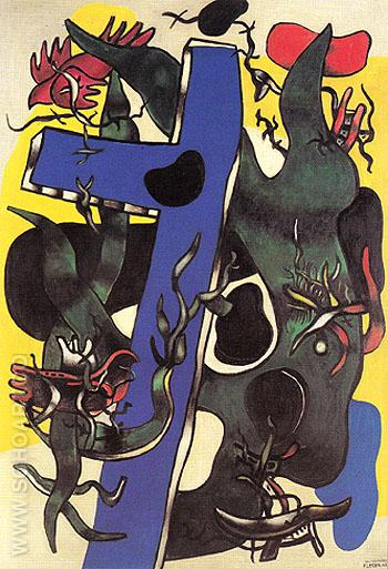 The Forest 1942 - Fernand Leger reproduction oil painting