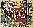 Fernand Leger Tree Trunks on Yellow Ground 1945
