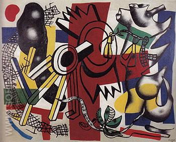 Good Bye New York 1946 - Fernand Leger reproduction oil painting