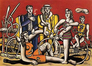 Leisure 1944 - Fernand Leger reproduction oil painting