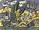 The country outing first state c1952 - Fernand Leger