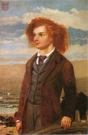 Algernon Charles Swinburne 1860 - William Bell Scott reproduction oil painting