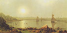 York Harbor Coast of Maine 1877 - Martin Johnson Heade