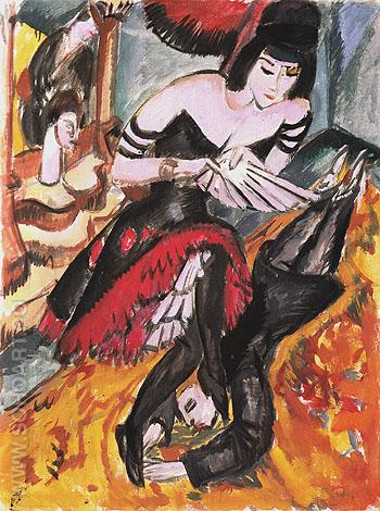 Pantomime Reimann The Dancers Revenge 1912 - Ernst Kirchner reproduction oil painting