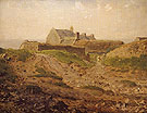 Priory at Vauville Normandy c1872 - Jean Francois Millet